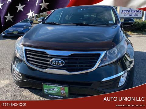 2012 Kia Sportage for sale at Auto Union LLC in Virginia Beach VA