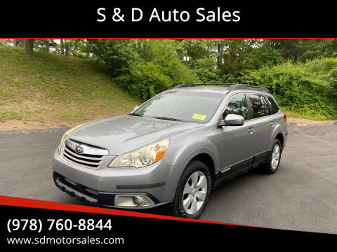 2010 Subaru Outback for sale at S & D Auto Sales in Maynard MA