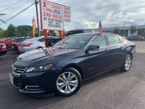 2018 Chevrolet Impala for sale at 1st Choice Auto Sales in Newport News VA