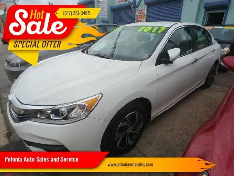 2017 Honda Accord for sale at Polonia Auto Sales and Service in Hyde Park MA