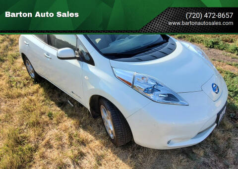 2012 Nissan LEAF for sale at Barton Auto Sales in Longmont CO