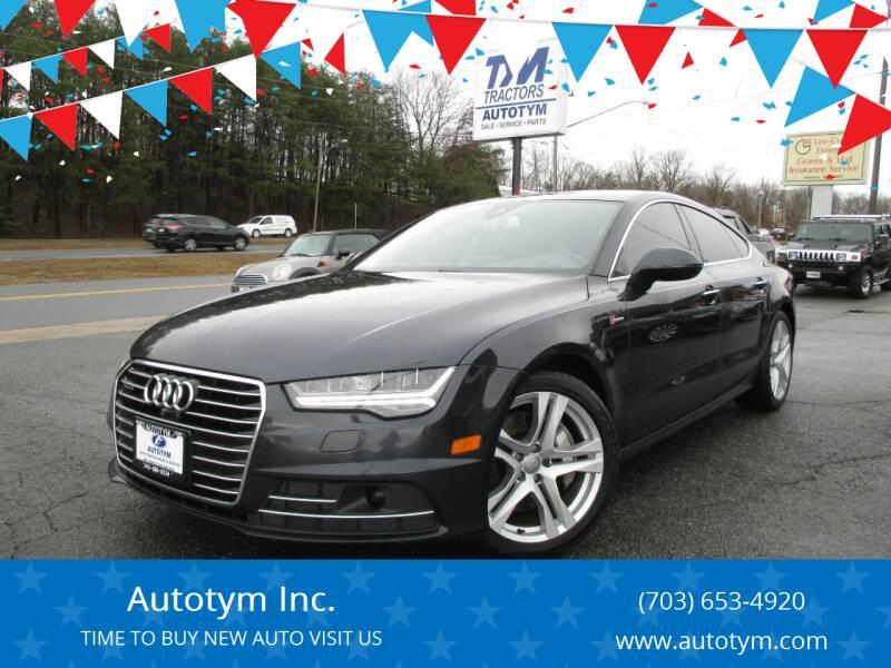 2017 Audi A7 for sale at AUTOTYM INC in Fredericksburg VA