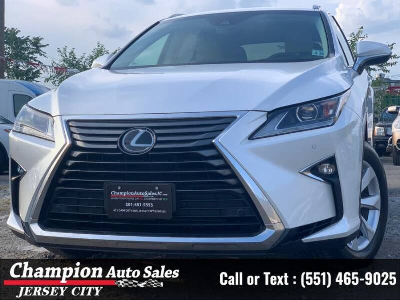2017 Lexus RX 350 for sale at CHAMPION AUTO SALES OF JERSEY CITY in Jersey City NJ