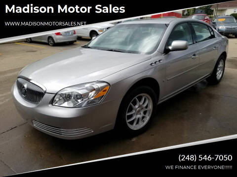 2007 Buick Lucerne for sale at Madison Motor Sales in Madison Heights MI