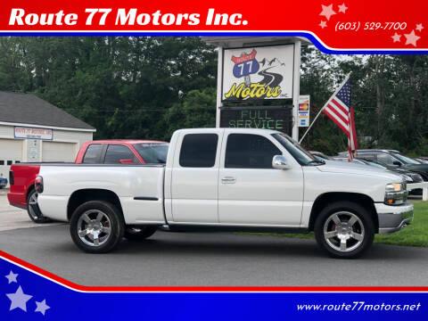 2002 Chevrolet Silverado 1500 for sale at Route 77 Motors Inc. in Weare NH