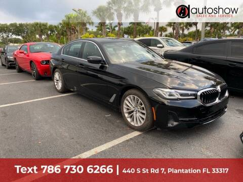 2021 BMW 5 Series for sale at AUTOSHOW SALES & SERVICE in Plantation FL