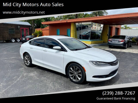 2015 Chrysler 200 for sale at Mid City Motors Auto Sales in Fort Myers FL