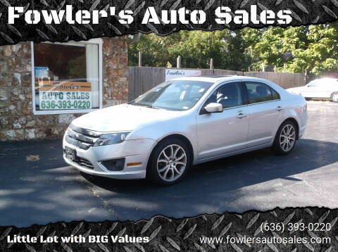 2012 Ford Fusion for sale at Fowler's Auto Sales in Pacific MO