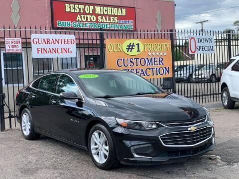 2018 Chevrolet Malibu for sale at Best of Michigan Auto Sales in Detroit MI
