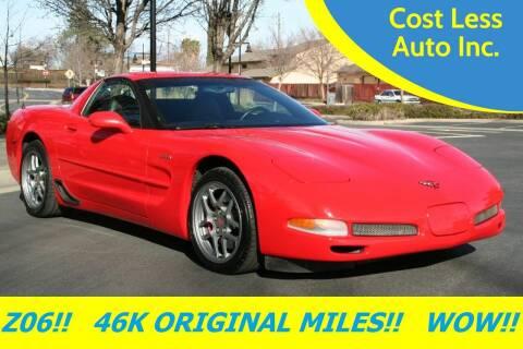 2001 Chevrolet Corvette for sale at Cost Less Auto Inc. in Rocklin CA