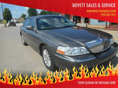 2003 Lincoln Town Car for sale at Boyett Sales & Service in Holton KS