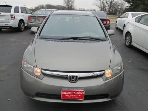 2007 Honda Civic for sale at Knauff & Sons Motor Sales in New Vienna OH