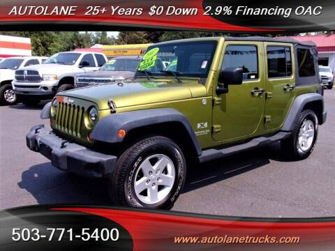 2007 Jeep Wrangler Unlimited for sale at Auto Lane in Portland OR