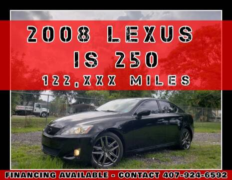 2008 Lexus IS 250 for sale at AFFORDABLE ONE LLC in Orlando FL