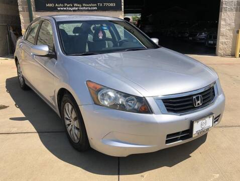 2010 Honda Accord for sale at KAYALAR MOTORS Mechanic in Houston TX