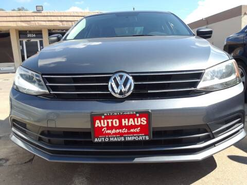 2015 Volkswagen Jetta for sale at Auto Haus Imports in Grand Prairie TX