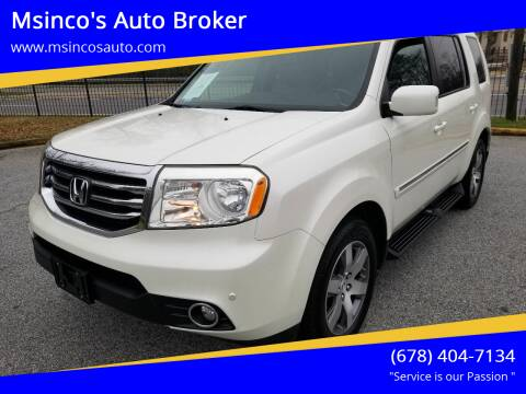2013 Honda Pilot for sale at Msinco's Auto Broker in Snellville GA