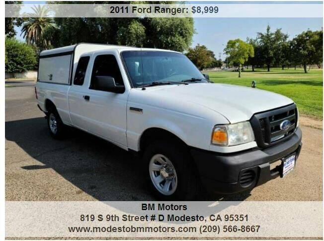 2011 Ford Ranger for sale at BM Motors in Modesto CA