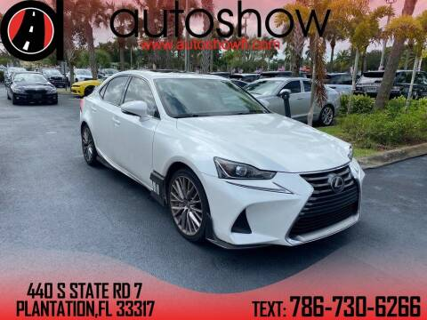 2017 Lexus IS 200t for sale at AUTOSHOW SALES & SERVICE in Plantation FL