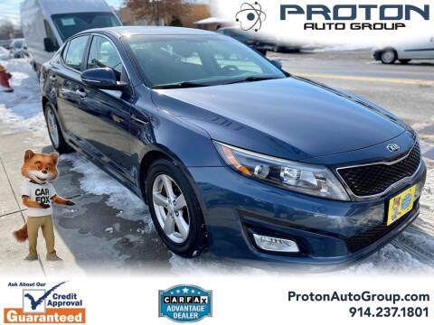 2015 Kia Optima for sale at Proton Auto Group in Yonkers NY