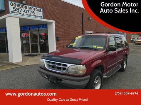 1996 Ford Explorer for sale at Gordon Motor Auto Sales Inc. in Norfolk VA