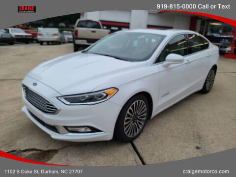 2018 Ford Fusion Hybrid for sale at CRAIGE MOTOR CO in Durham NC