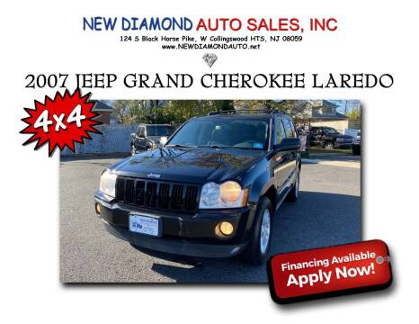 2007 Jeep Grand Cherokee for sale at New Diamond Auto Sales, INC in West Collingswood NJ