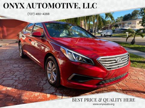 2017 Hyundai Sonata for sale at ONYX AUTOMOTIVE, LLC in Largo FL
