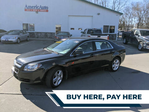 2010 Chevrolet Malibu for sale at AmericAuto in Des Moines IA