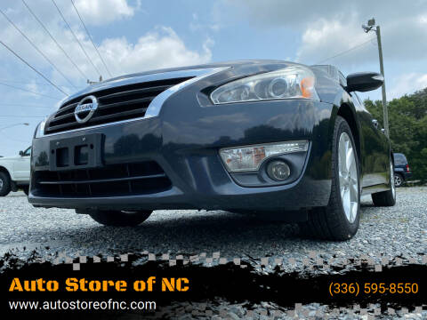 2013 Nissan Altima for sale at Auto Store of NC in Walkertown NC