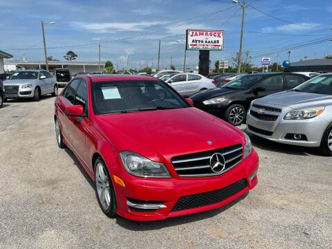 2014 Mercedes-Benz C-Class for sale at Jamrock Auto Sales of Panama City in Panama City FL
