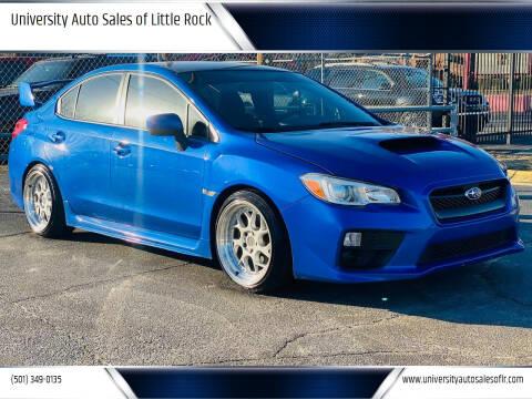 2015 Subaru WRX for sale at University Auto Sales of Little Rock in Little Rock AR