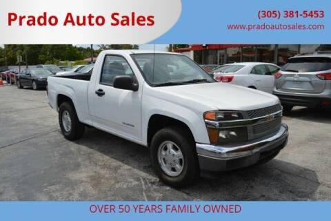 2005 Chevrolet Colorado for sale at Prado Auto Sales in Miami FL