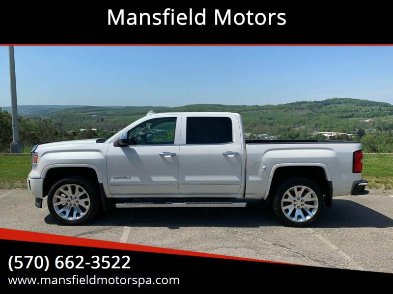 2015 GMC Sierra 1500 for sale at Mansfield Motors in Mansfield PA