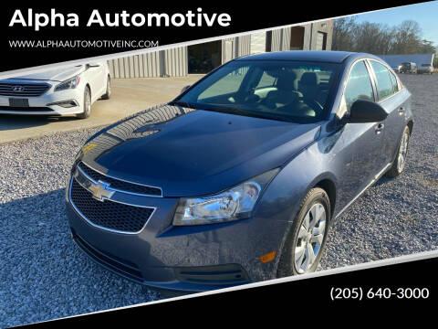 2013 Chevrolet Cruze for sale at Alpha Automotive in Odenville AL