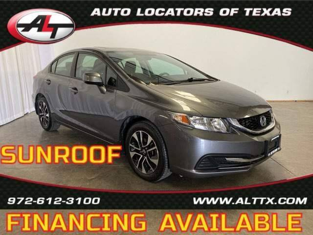 2013 Honda Civic for sale at AUTO LOCATORS OF TEXAS in Plano TX