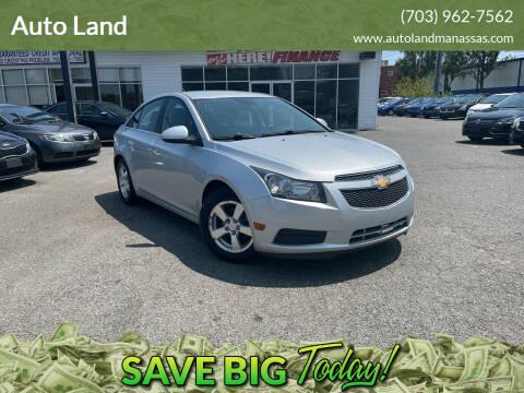 2014 Chevrolet Cruze for sale at Auto Land in Manassas VA