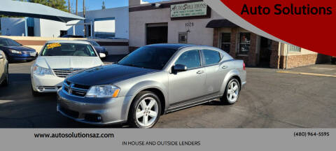 2013 Dodge Avenger for sale at Auto Solutions in Mesa AZ