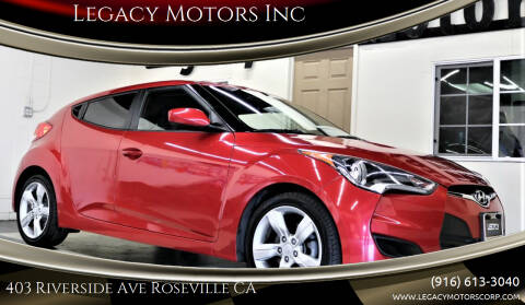 2015 Hyundai Veloster for sale at Legacy Motors Inc in Roseville CA