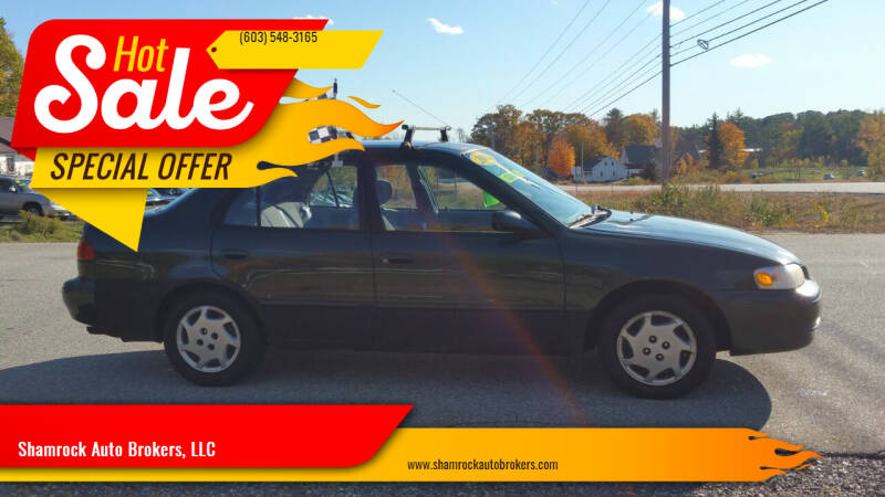 2000 Toyota Corolla for sale at Shamrock Auto Brokers, LLC in Belmont NH