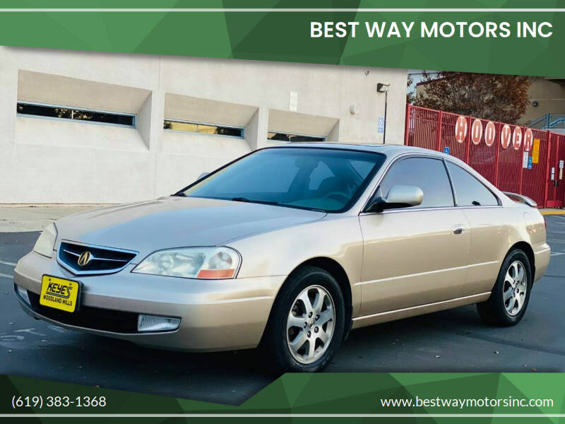 2001 Acura CL for sale at BEST WAY MOTORS INC in San Diego CA