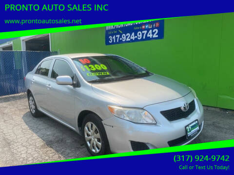 2010 Toyota Corolla for sale at PRONTO AUTO SALES INC in Indianapolis IN