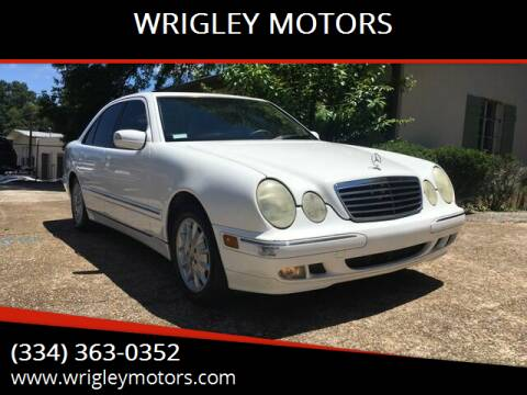 2001 Mercedes-Benz E-Class for sale at WRIGLEY MOTORS in Opelika AL