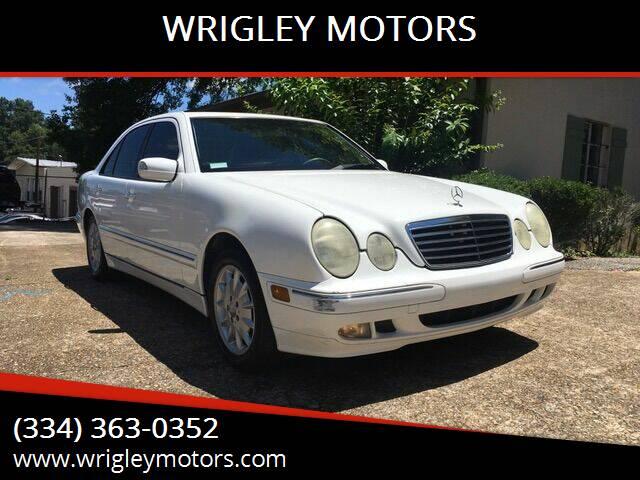 2001 Mercedes-Benz E-Class for sale at WRIGLEY MOTORS in Opelika AL