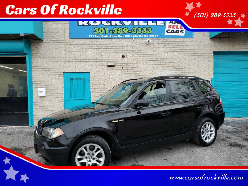 2005 BMW X3 for sale at Cars Of Rockville in Rockville MD