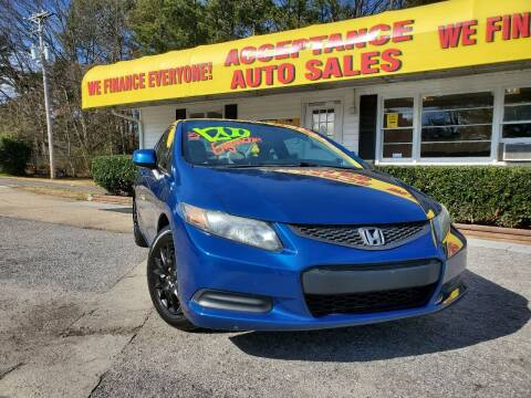 2013 Honda Civic for sale at Acceptance Auto Sales in Marietta GA