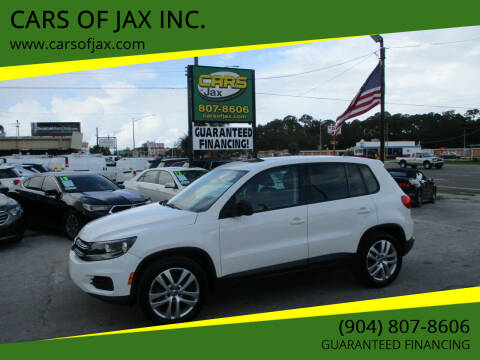 2013 Volkswagen Tiguan for sale at CARS OF JAX INC. in Jacksonville FL