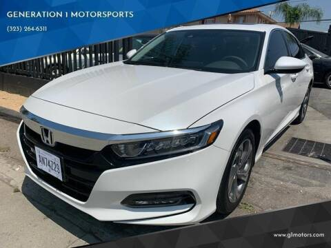 2019 Honda Accord for sale at GENERATION 1 MOTORSPORTS #1 in Los Angeles CA