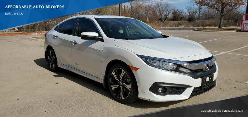2018 Honda Civic for sale at AFFORDABLE AUTO BROKERS in Keller TX