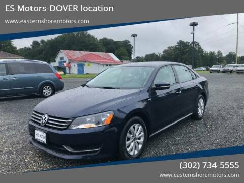 2015 Volkswagen Passat for sale at ES Motors-DAGSBORO location - Dover in Dover DE
